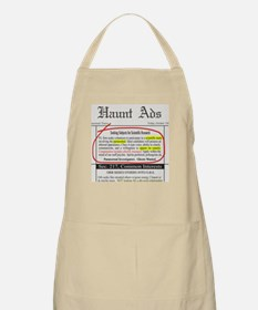 Haunt Ads: Ghosts Wanted BBQ Apron