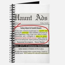 Haunt Ads: Ghosts Wanted Journal