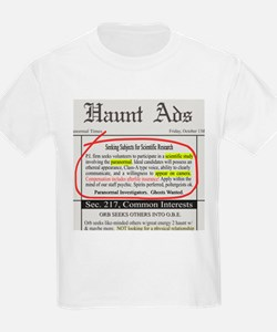 Haunt Ads: Ghosts Wanted Kids T-Shirt