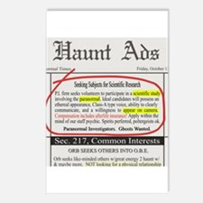 Haunt Ads: Ghosts Wanted Postcards (Package of 8)
