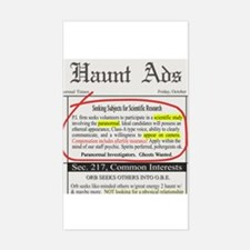 Haunt Ads: Ghosts Wanted Rectangle Decal