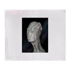 Alien (grey man) Throw Blanket