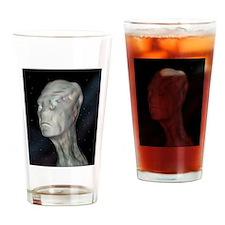 Alien (grey man) Drinking Glass