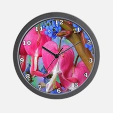Bleeding Heart Flowers Wall Clock