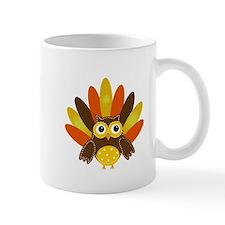Thanksgiving Owl Mugs