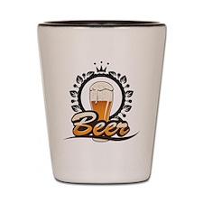 Beer King Shot Glass