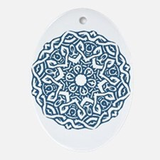 Knotted Circle Oval Ornament