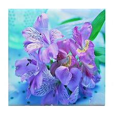 Orchid Flowers Floral Tile Coaster