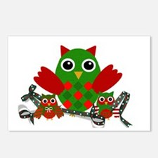 Owls Decorating for Christmas Postcards (Package o