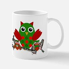 Owls Decorating for Christmas Mugs
