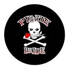 Pirate Bride Round Car Magnet