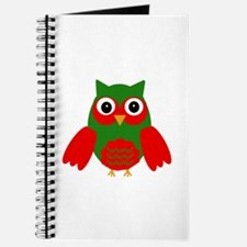 Holly the Red and Green Owl Journal