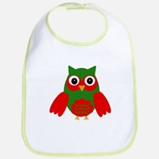 Holly the Red and Green Owl Bib