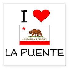 "I Love La Puente California Square Car Magnet 3"" x"
