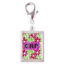 CNP Case pink green Charms