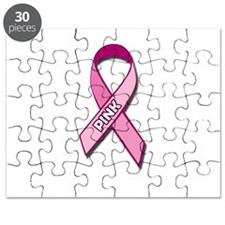 Breast Cancer Awareness Pink Ribbon Pink Puzzle