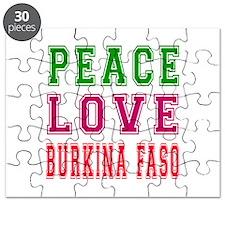 Peace Love Burkina Faso Puzzle