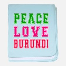 Peace Love Burundi baby blanket