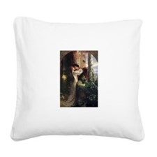 Romeo and Juliet Square Canvas Pillow