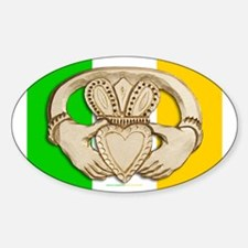 Irish Claddagh Oval Decal
