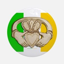 Irish Claddagh Ornament (Round)