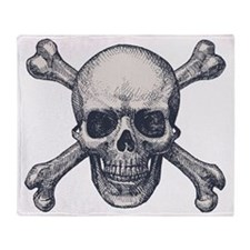 Skull & Bones Throw Blanket