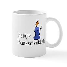 babys first thanksgivvukah Mugs