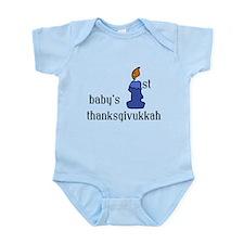 babys first thanksgivvukah Body Suit