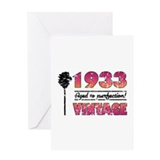 1933 Vintage (Palm Tree) Greeting Card