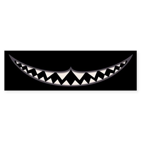 Cheshire Grin II Sticker (Bumper)