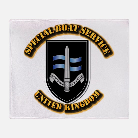Special Boat Service - UK Throw Blanket