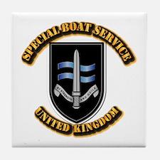 Special Boat Service - UK Tile Coaster