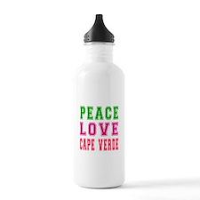 Peace Love Cape Verde Water Bottle