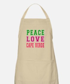 Peace Love Cape Verde Apron