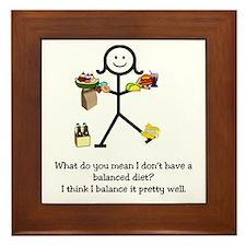 Balanced Diet Framed Tile