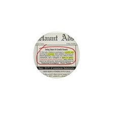 Haunt Ads: Ghosts Wanted Mini Button