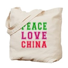 Peace Love China Tote Bag