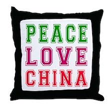 Peace Love China Throw Pillow