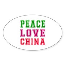 Peace Love China Decal