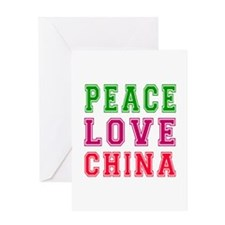 Peace Love China Greeting Card