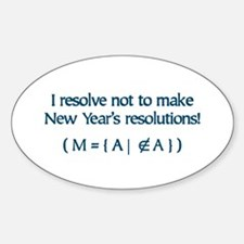 NY Resolutions Oval Decal