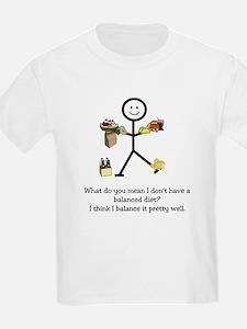 Balanced Diet Kids T-Shirt