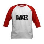 Dancer (Front) Kids Baseball Jersey