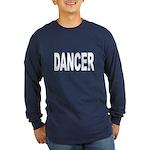 Dancer (Front) Long Sleeve Dark T-Shirt