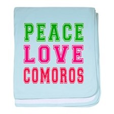Peace Love Comoros baby blanket