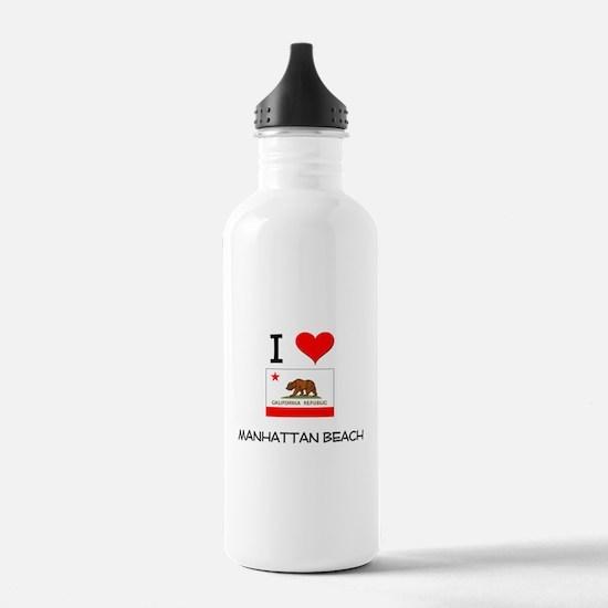 I Love Manhattan Beach California Water Bottle