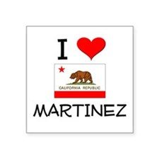 I Love Martinez California Sticker