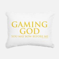 gaminggod_CPDark.png Rectangular Canvas Pillow