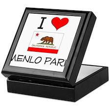 I Love Menlo Park California Keepsake Box