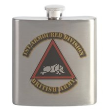 1st Armoured Division - UK Flask